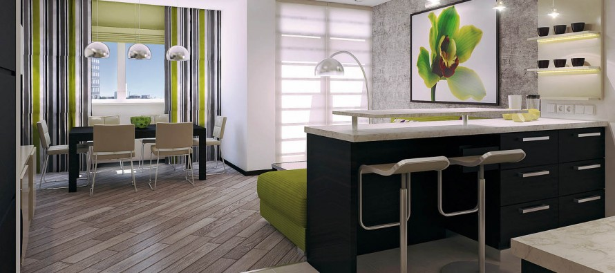 небольшие барные стойки на кухне в квартире студии фото дизайн