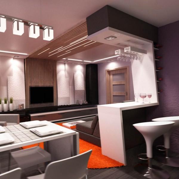 Дизайн кухни с барной стойкой. Современный взгляд