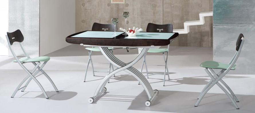 Стеклянные столы-трансформеры, круглые и овальные