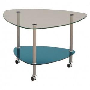 Угловой столик из стекла
