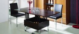 Обеденный стол-трансформер: конструкция, преимущества, разновидности