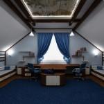 Большая комната для двух мальчиков в морском стиле