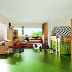 Детская комната с футбольным дизайном