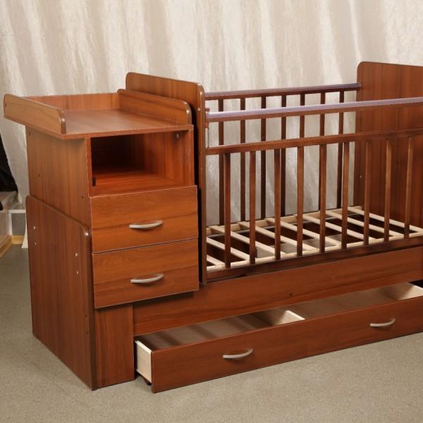Детская кровать трансформер с комодом и пеленальным столиком