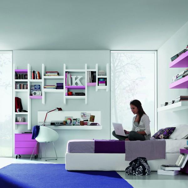 Бело-розовая мебель в комнату