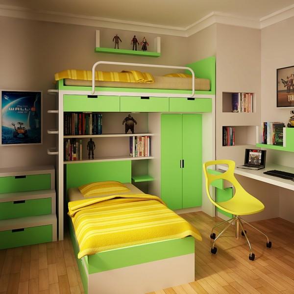 Детская модульная и корпусная мебель для мальчиков школьнико.