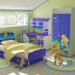 Мебель для детской комнаты девочки с русалочкой фото
