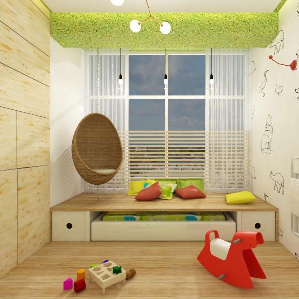 Детская с кроватью под подиумом
