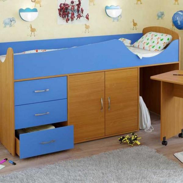 Кровать с вертикальными ящиками