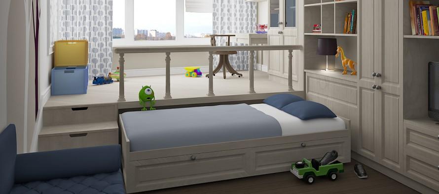 Особенности кроватей-подиумов в детской комнате
