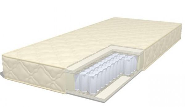 удобный матрас с независимыми пружинами eco foam