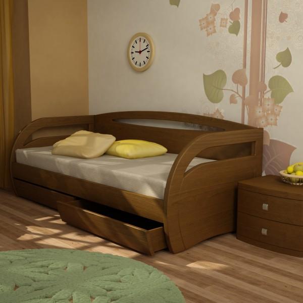 Односпальные кровати с выдвижными ящиками