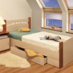особенности детских кроватей с ящиками
