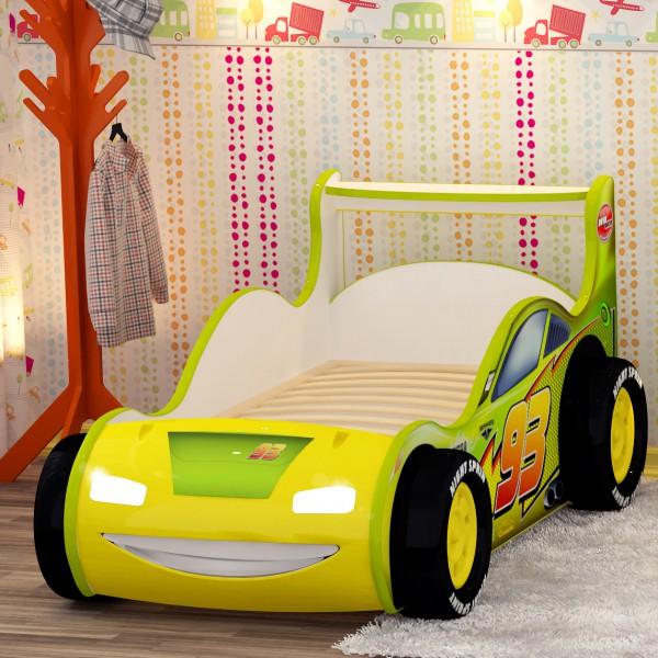 кровать машинка с фарами