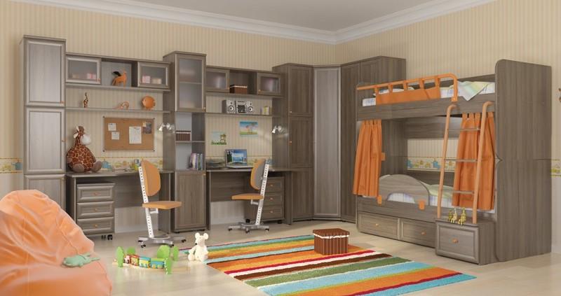 Двухъярусные кровати в детской – оригинальный интерьер и многофункциональность