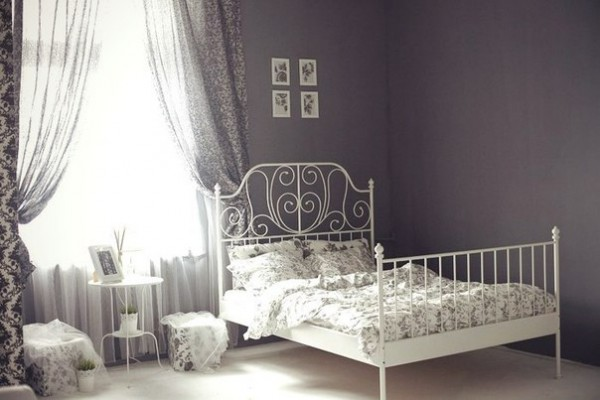 Белая кровать икеа