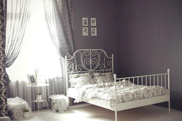 Лейрвик кровать в интерьере фото