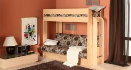 Двухъярусная кровать с диваном в детскую – гостиная и спальня вместе