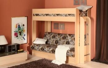 Диван с кроватью двухъярусные в детскую комнату