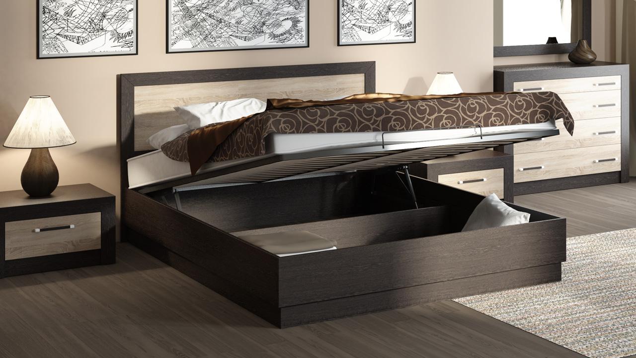 Кровать с подъемным механизмом – спальное ложе и вместительный шкаф одновременно