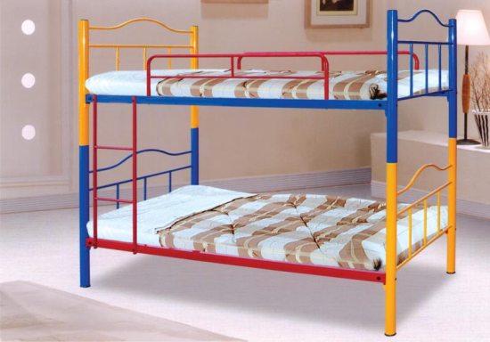 Фото металлической двухъярусной кровати