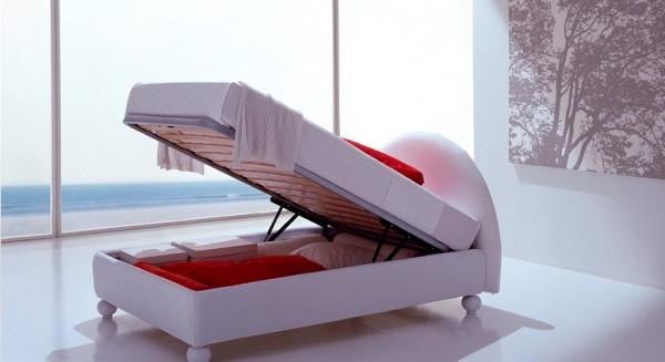Фото односпальной кровати с подъемным механизмом