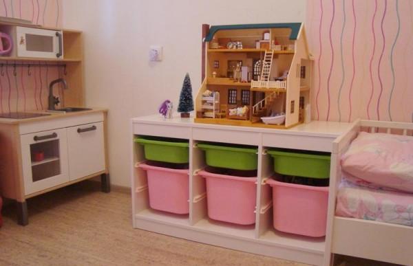 Фото системы хранения для игрушек из ИКЕА