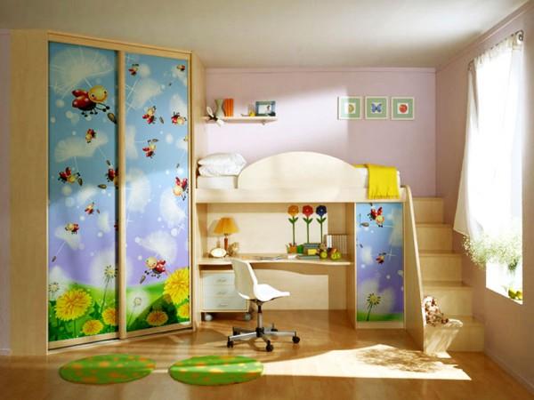 Фото углового шкафа в детскую-1