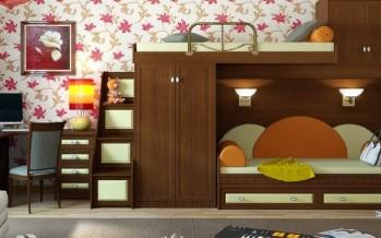 Кровать-чердак для двоих детей