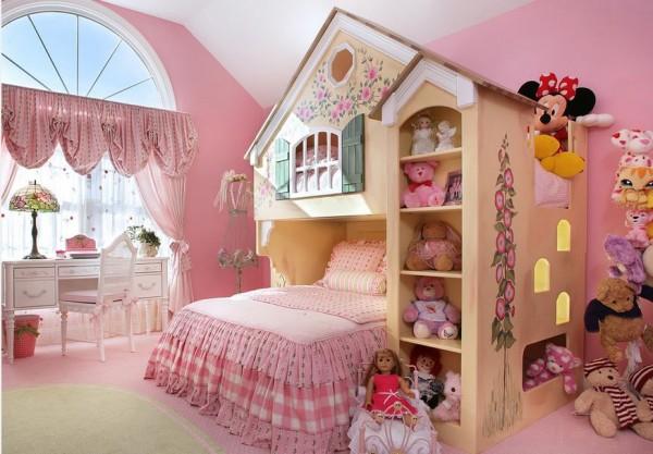 Кровать-чердак для маленькой принцессы