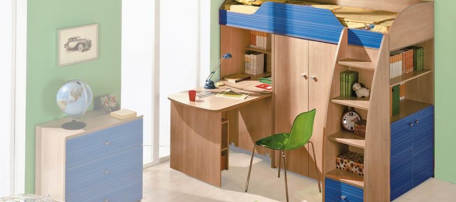 Детская комната с кроватью-чердаком