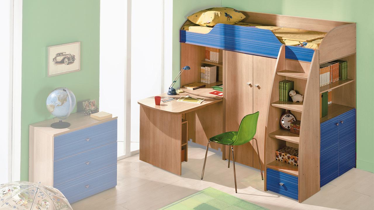 Детская комната с кроватью-чердаком – функциональное и оригинальное решение
