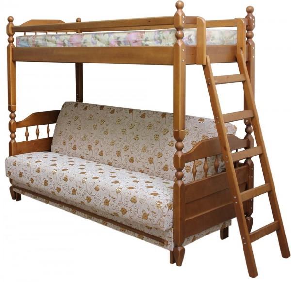 Кровать-диван из массива дееа