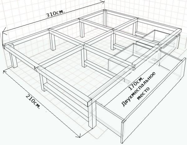 Кровати с подъемным механизмом своими руками чертежи