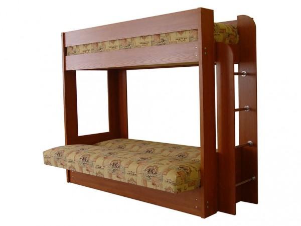Кровать с раскладным диваном-еврокнижкой