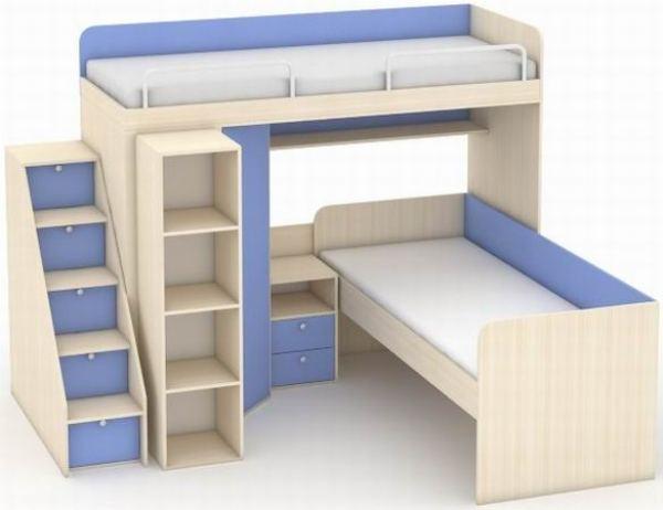 Двухъярусные детские кровати угловые фото