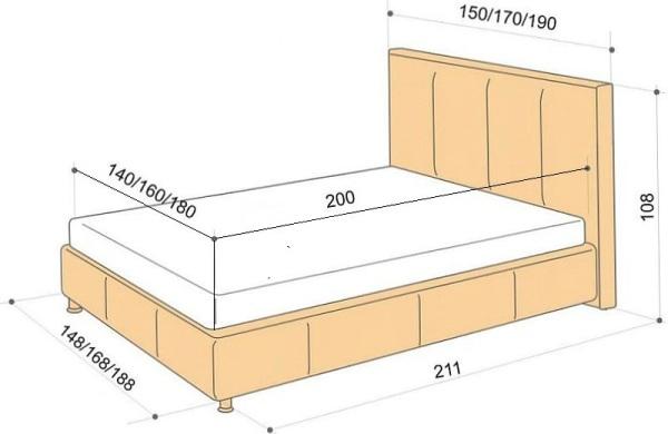 Односпальная кровать из дсп своими руками чертежи и размеры 133