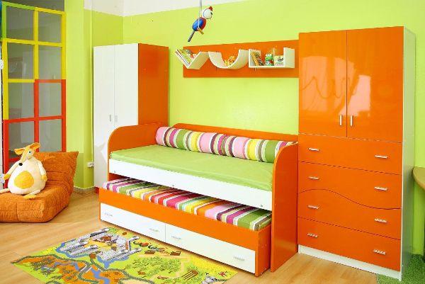 Кровать для двоих детей выкатная