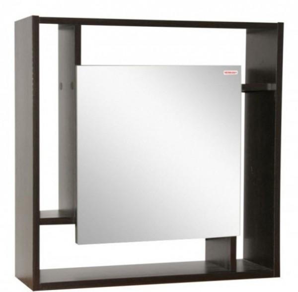 Зеркало в спальню с полкой