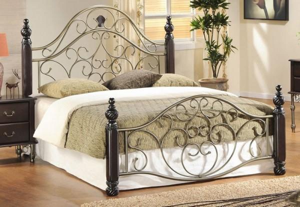 металлическая двуспальная кровать
