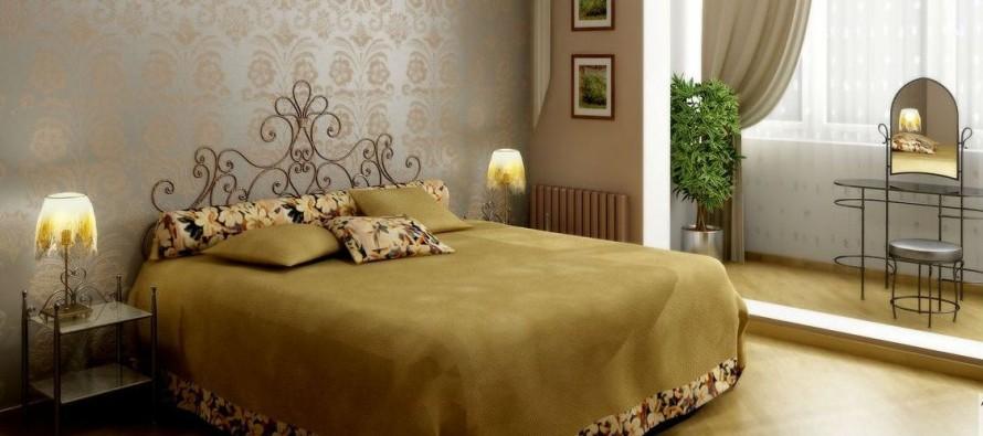 Как разместить в просторной спальне кровать