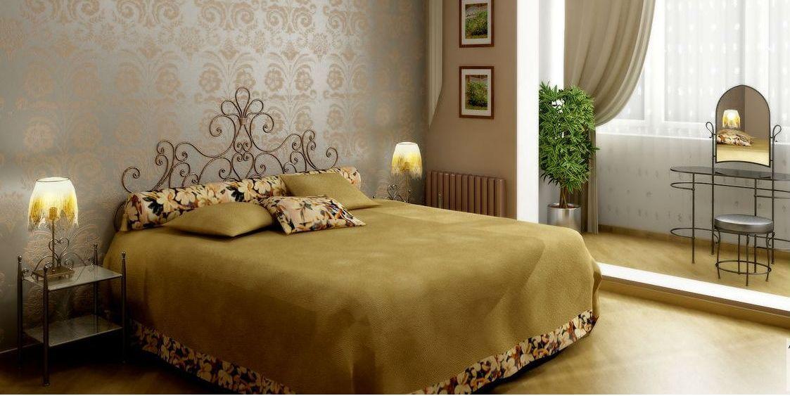 Как правильно поставить кровать в спальне различных форм?
