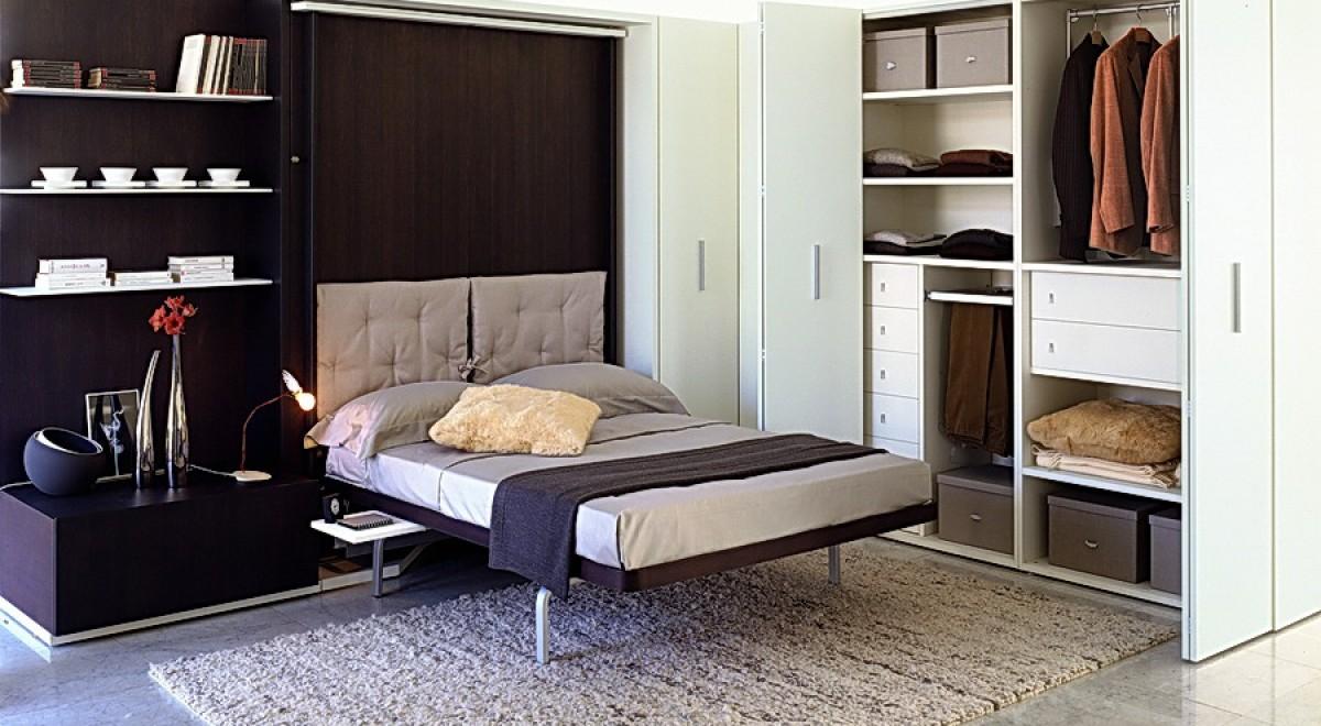 Шкаф-кровать в спальне – экономия площади и оригинальный дизайн