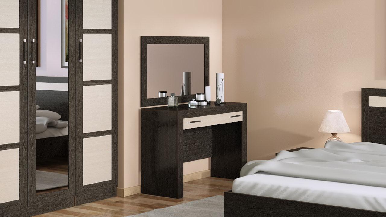 Туалетный столик с зеркалом в спальне – необходимая роскошь