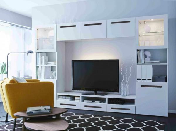 модульная мебель для гостиной от икеа модели и фото