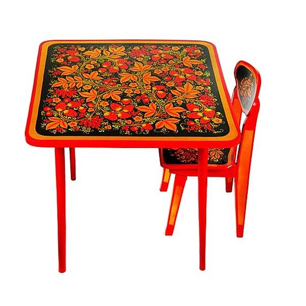 Детский стол Хохлома