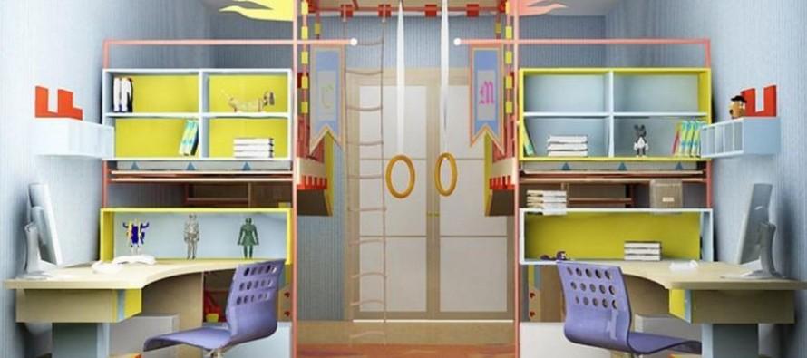 Дизайн детской комнаты со спортивным уголком для ребенка