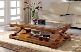 Деревянный журнальный столик в гостиной – от классики до футуризма