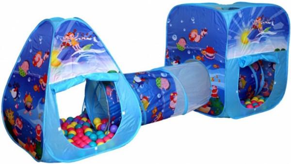 Фото детской палатки с шариками