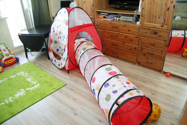 Фото детской палатки с тоннелем